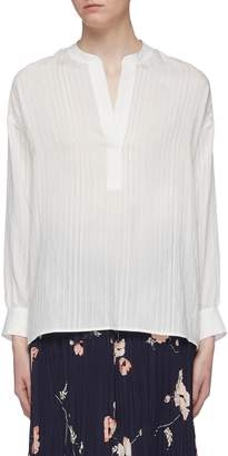 Vince Half open placket stripe top