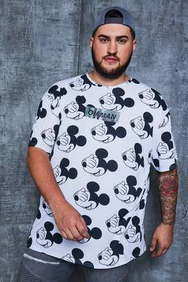 boohoo Big And Tall Disney 'Oh Man' Oversized T-Shirt