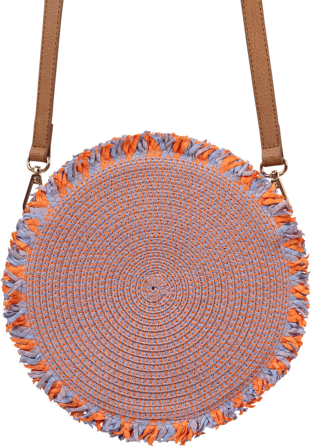Oliver Bonas Brenna Lilac & Orange Circle Cross Body Bag
