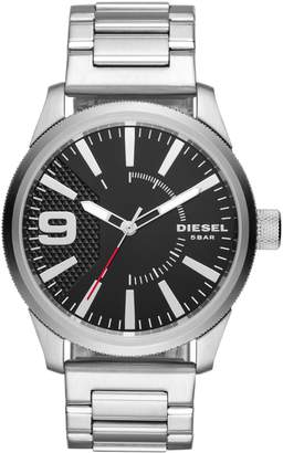 Diesel Rasp NSBB Three-Hand Stainless Steel Watch