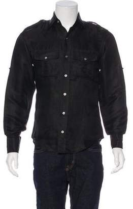 Tom Ford Woven Military Shirt