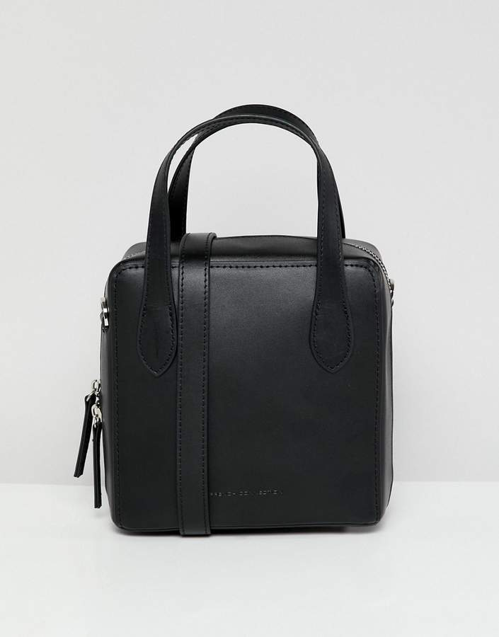 French Connection sustainable leather square bag