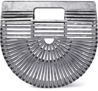 Cult Gaia Ark Mini Metallic Acrylic Clutch - Gray