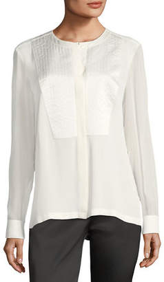 Escada Trapunto-Stitch Silk Shirt