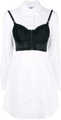 Moschino bustier layer shirt