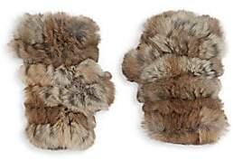 Jocelyn Women's Mandy Rabbit Fur Fingerless Mittens
