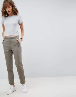 Asos DESIGN chino pants in slate gray