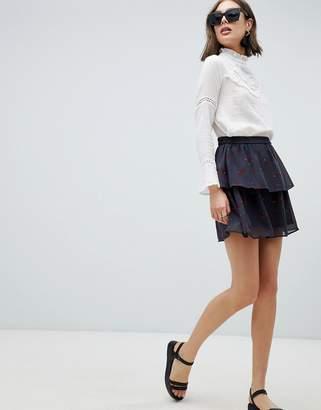 Vero Moda Floral Flippy Skirt