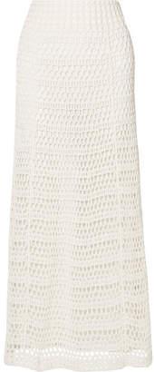 Theory Crocheted Cotton-blend Maxi Skirt