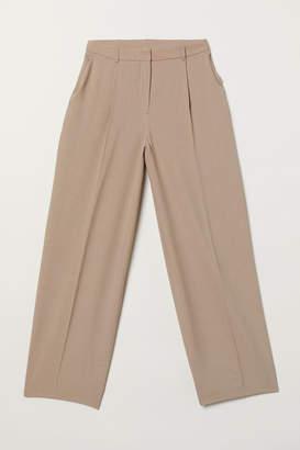 H&M Wide-leg Pants - Brown