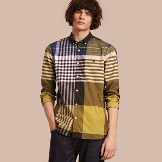 Burberry Graphic Tartan Cotton Shirt $295 thestylecure.com