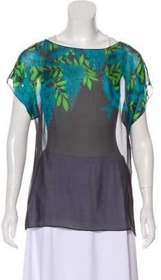 Jonathan Saunders Floral Print Short Sleeve Top