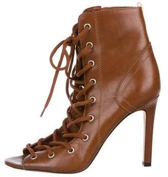Sarah Jessica Parker Leather Lace-Up Ankle Boots