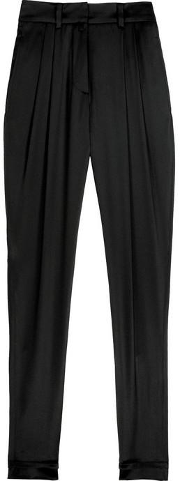 Phi Silk-satin pleated pants