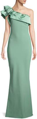 Chiara Boni Elise One-Shoulder Satin Gown