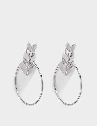 Roberto Cavalli Aella Round Earrings in Silver