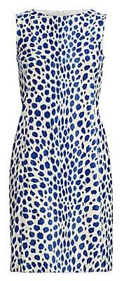 Akris Punto Women's Animal Dot Sleeveless Sheath