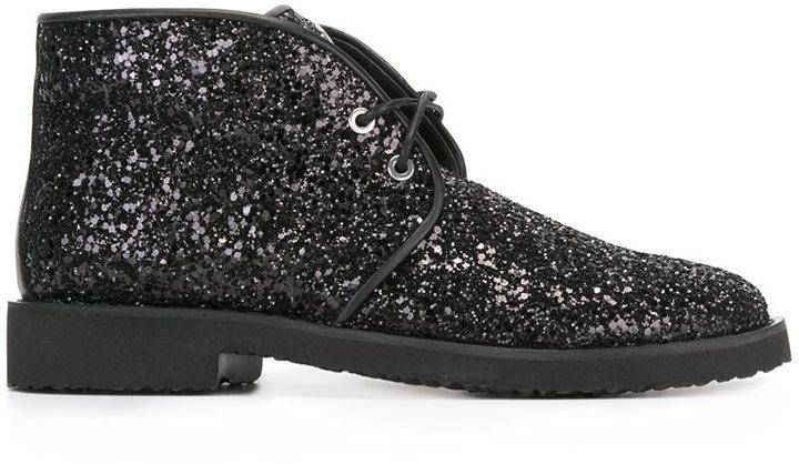 Giuseppe Zanotti Design glitter lace up boots