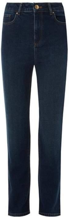 Womens **Tall Blue 'Billie' High Wasited Straight Leg Denim Jeans
