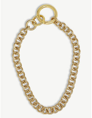 Laura Lombardi Fede brass necklace