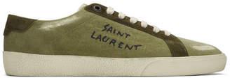 Saint Laurent Green Destroyed SL/06 Court Classic Sneakers