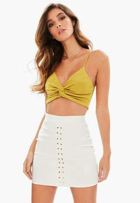 Missguided Acetate Twist Front Bralet
