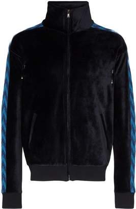 Missoni velvet zigzag-stripe track jacket