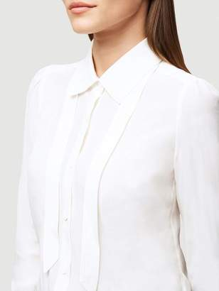 Frame Collar Tie Silk Blouse