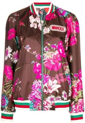 Gucci floral bomber jacket