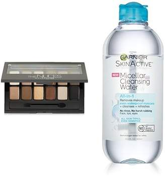 Maybelline Eyeshadow Palette and Garnier SkinActive Micellar Water Makeup Remover