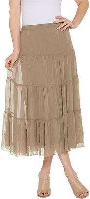 Linea By Louis Dell'olio by Louis Dell'Olio 4-Tier Crinkle Boho Skirt