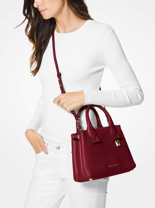 MICHAEL Michael Kors Rollins Small Pebbled Leather Satchel