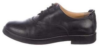 MM6 MAISON MARGIELA Leather Round-Toe Oxfords