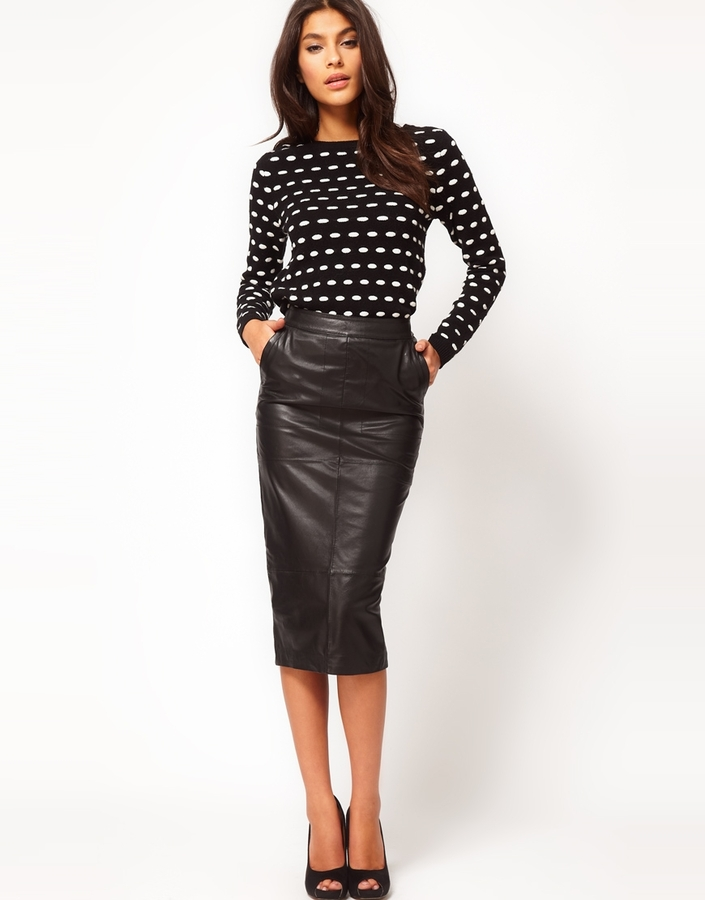 Asos Pencil Skirt in Leather
