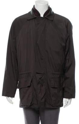 Loro Piana Leather-Trimmed Zip-Up Jacket