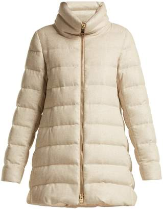 Herno Funnel-neck quilted-down mid-length coat