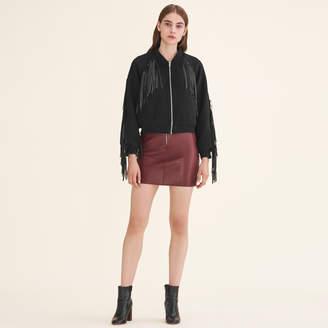 Maje Bomber style jacket with fringing