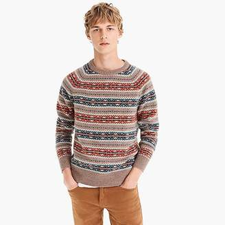 J.Crew Lambswool Fair Isle sweater in orange