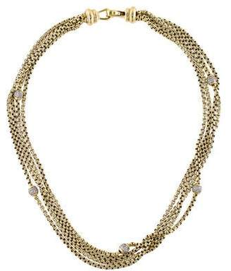 David Yurman 18K Diamond Multistrand Ball Necklace