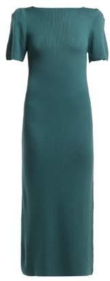 Roche Ryan Cashmere Midi Dress - Womens - Dark Green