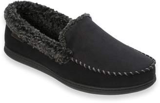 Dearfoams Men's Microfiber Whipstitch Wide-Width Clog Slippers