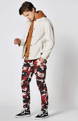 PacSun Red Drop Skinny Camo Cargo Jogger Pants
