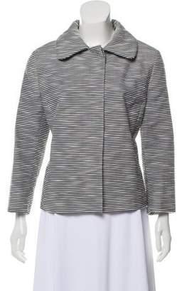 Akris Punto Striped Button-Up Blazer