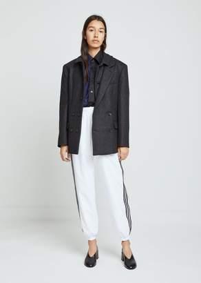 Gosha Rubchinskiy Men's Wool Coat With Collar Detail