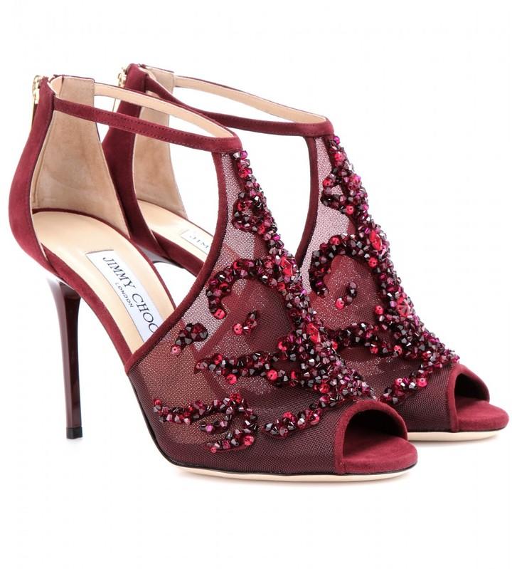 Jimmy Choo Fraze embellished suede sandals