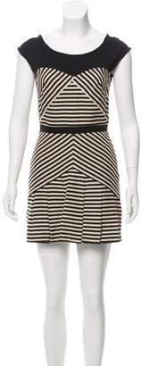 Elizabeth and James Pleated Stripe Dress