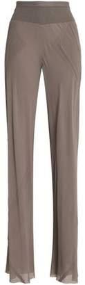 Rick Owens Silk-Crepe Flared Pants