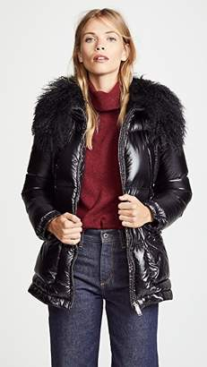 ADD Down Jacket with Fur Border