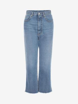 Alexander McQueen HIGH-WAISTED WIDE LEG DENIM