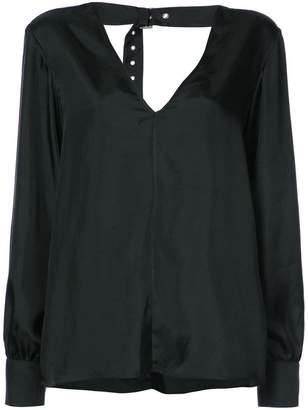 Tibi Mendini buckle back blouse